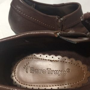 BareTraps Shoes - Bare Traps Womens Leather Booties Brown Size 8.5 M